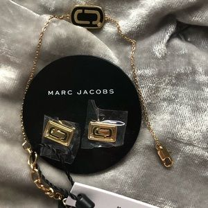 Marc Jacobs logo earrings, NWT.